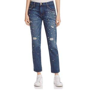 Current/Elliot The Fling Embellished Pearl Jeans